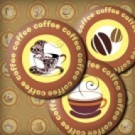 LÁMINA CON 30 IMÁGENES 30x30mm Café