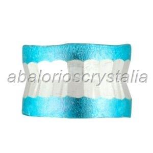 10 ABALORIOS ESPACIADOR ALUMINIO AZUL 4x6 mm
