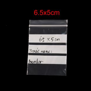 20 BOLSAS DE PLASTICO ESCRITURA CIERRE ZIP 6.5x5cm