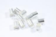 5 Chafas tubo 2.5x2 mm plata 925