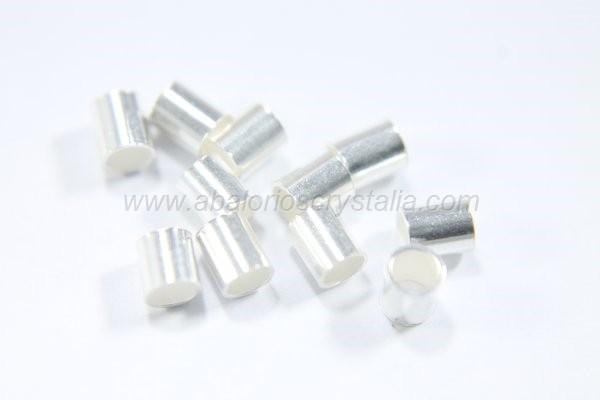 5 Chafas 3.5x3 mm plata 925
