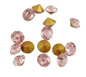 150 CHATONES DE CRISTAL COLOR ROSA (2 mm)