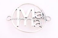 1 CONECTOR Mama PLATA ANTIGUA 43x33mm