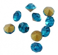 150 CHATONES DE CRISTAL COLOR AZUL (2 mm)