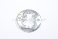 Conector entrepieza niña calado 12.5 mm plata 925