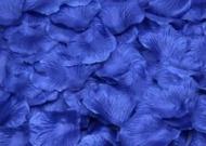 100 PÉTALOS DE ROSA DE TELA 5x5cm (Azul marino)