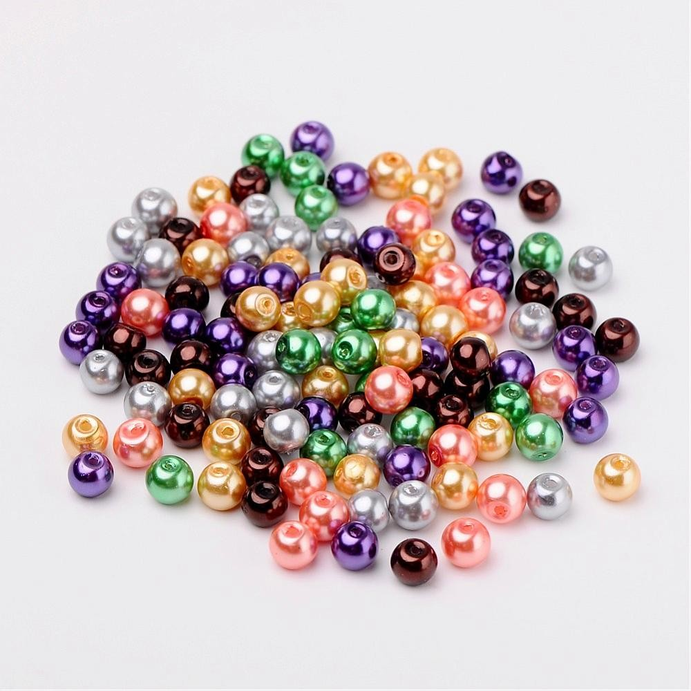50 PERLAS DE CRISTAL 6mm MIX 7
