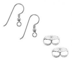 Pendientes y accesorios de plata
