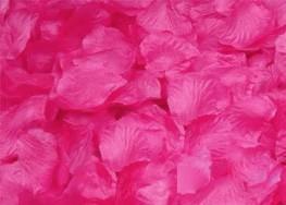 100 PÉTALOS DE ROSA DE TELA 5x5cm (Rosa fuerte)