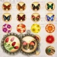 LÁMINA CON 60 IMÁGENES 19.5x19.5mm Naturaleza y mariposas