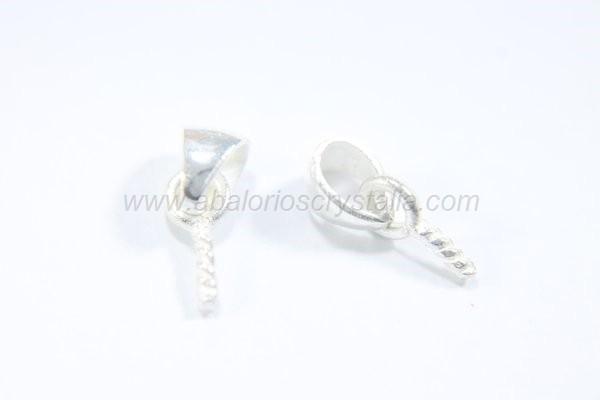 Colgante anilla + mini alcayata 9.8x4mm plata 925
