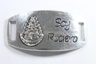 CONECTOR Soy Rociero PLATA ANTIGUA 42x22mm