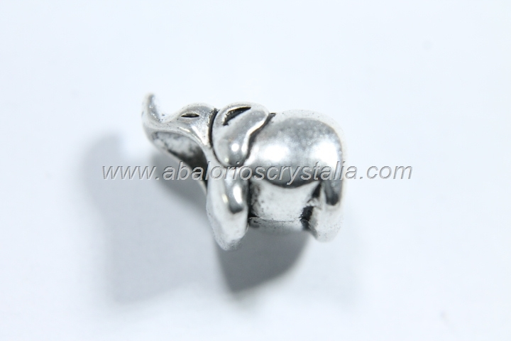 5 ELEFANTES PLATA ANTIGUA 13x9x10mm