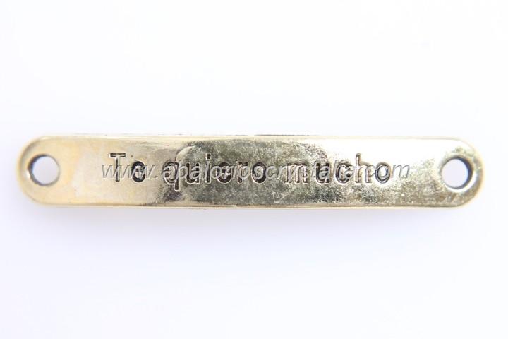 CONECTOR CHAPA Te quiero mucho DORADO 4.4cm