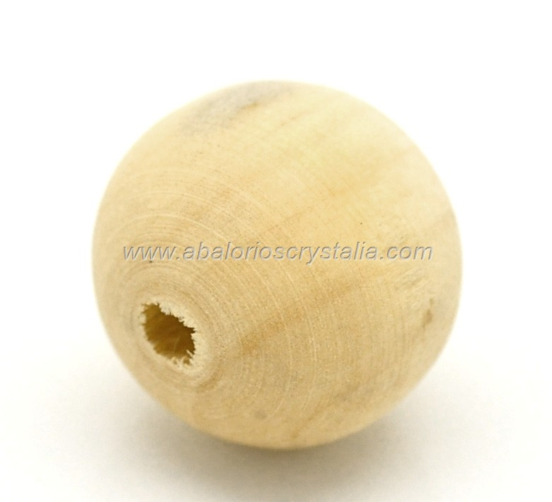 10 BOLAS DE MADERA NATURAL 20mm