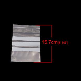10 BOLSAS DE PLASTICO ESCRITURA CIERRE ZIP 14.2x10cm