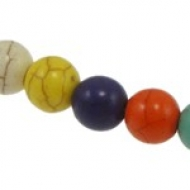 5 BOLAS HOWLITA MIX DE COLORES 12mm