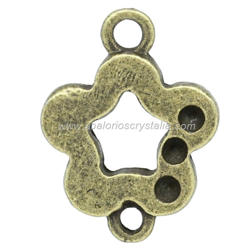 CONECTOR BRONCE FLOR 24x18mm