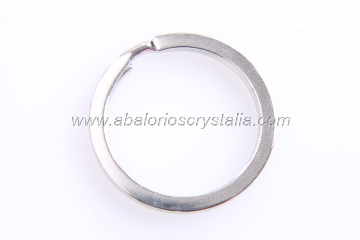 5 ANILLAS PARA LLAVERO PLATA ANTIGUA 30mm
