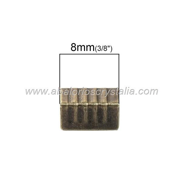 20 TERMINALES ABIERTOS BRONCE 8x5mm