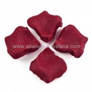 100 Pétalos de Rosa de tela 5x5cm Granate