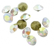 50 CHATONES DE CRISTAL COLOR CRISTAL AB (5.6 mm)