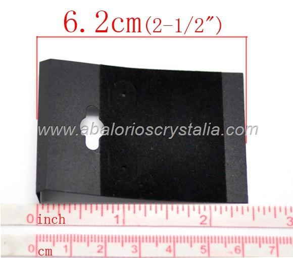 5 SOPORTES DE PLÁSTICO CON TERCIOPELO PARA PENDIENTES 6.2x4.5cm (negro)