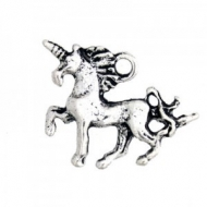 5 UNICORNIOS PLATA ANTIGUA 18x15mm