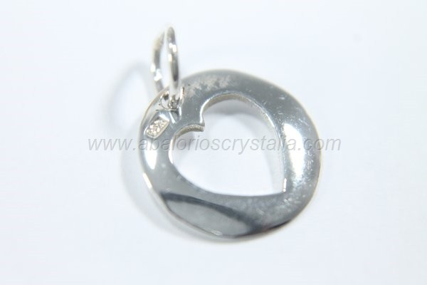 Colgante corazón calado 12.5 mm + anilla plata 925