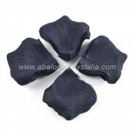 100 Pétalos de Rosa de tela 5x5cm Negro