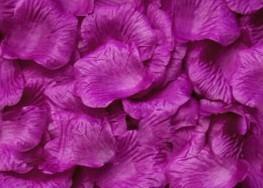 100 PÉTALOS DE ROSA DE TELA 5x5cm (Púrpura)