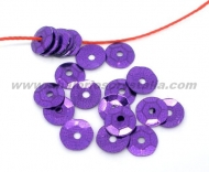 100 LENTEJUELAS 7 MM COLOR MORADO