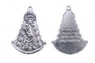 5 MEDALLAS Virgencita del Rocío PLATA ANTIGUA 32x23mm