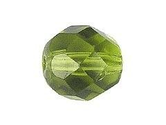 BOLA FACETADA CHECA OLIVINE 6mm (20 uds.)