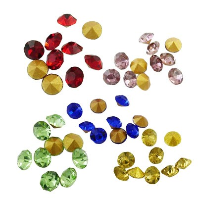 150 CHATONES DE CRISTAL MIX DE COLORES (3 mm)