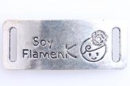 CONECTOR Soy flamenK PLATA ANTIGUA 40x16mm