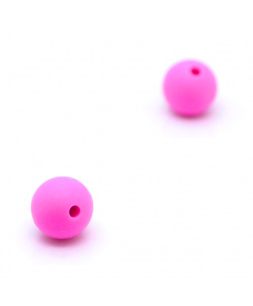 5 Bolas de Silicona Fuxia 8mm