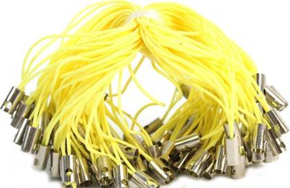 PACK 10 CORDONES PARA MÓVIL COLOR AMARILLO