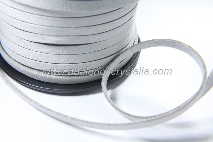 1 METRO DE ANTELINA ANCHA 5mm. GRIS CLARO