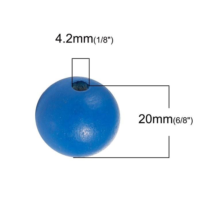 5 BOLAS DE MADERA MARINO 20mm