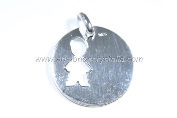 Colgante niño calado 20mm + anilla plata 925
