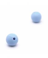 5 Bolas de Silicona Azul Claro 8mm