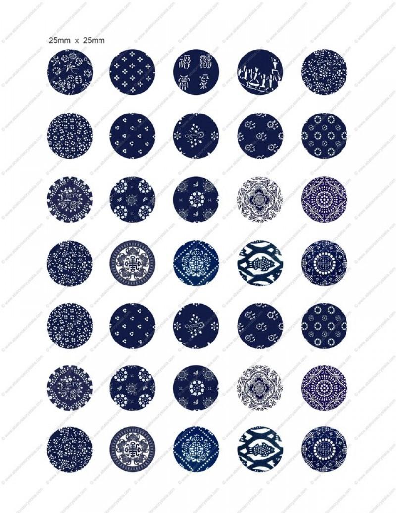 LÁMINA CON 35 IMÁGENES 25x25mm Mosaico 2
