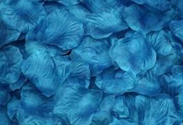 100 PÉTALOS DE ROSA DE TELA 5x5cm (Azul lago)