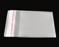 50 BOLSAS DE PLASTICO CIERRE AUTO ADHESIVO 6x4cm