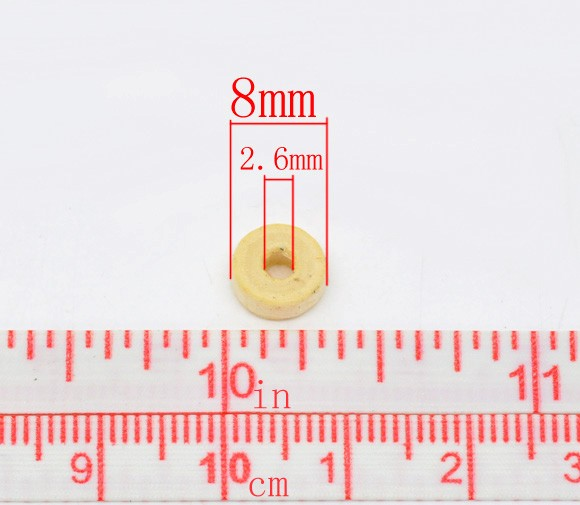 15 gr. RONDELES DE MADERA NATURAL 8x3mm aprox. 150 uds.