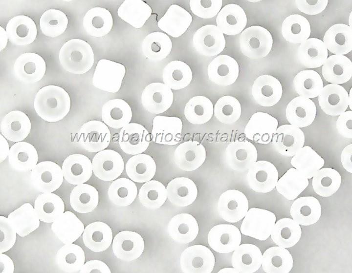 20 GR ROCALLA 6/0 (3.6 - 4mm) BLANCO EFECTO HIELO