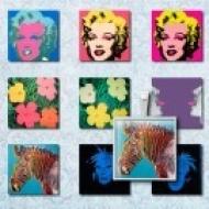 LÁMINA CON 35 IMÁGENES 25x25mm Warhol