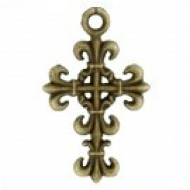 COLGANTE CRUZ BRONCE 23x14x2mm