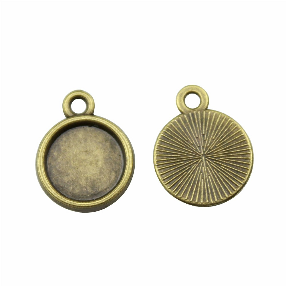 10 MARCOS CAMAFEO BRONCE 16x12mm (base 10mm)